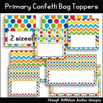 Primary Confetti Bag Topper Printables