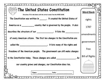 Primary Constitution  Bundle - Social Studies