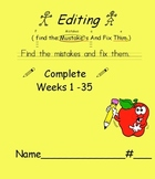 Primary D.O.L. Language Arts Conventions Full Year EDITING practice 35 weeks