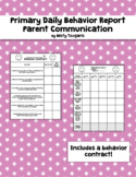 Primary Daily Behavior Report Parent Communication and Beh