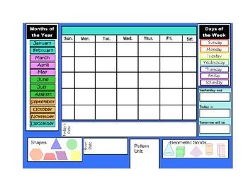 Primary Daily Calendar (Math)