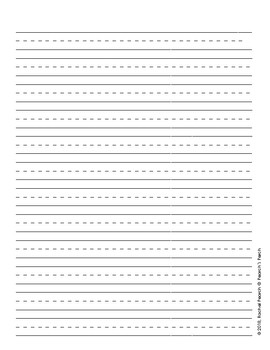 Primary Dashed Writing Paper