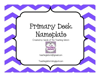 Primary Desk Nameplates