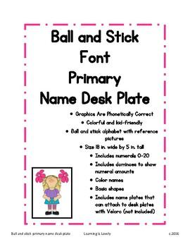 Primary Desktop Name Plate;Phonetically Regular Graphics &