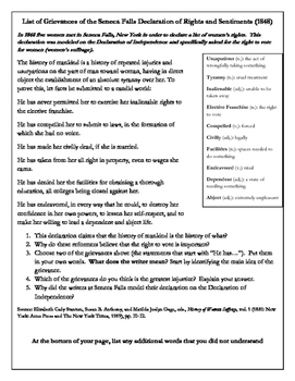 Primary Document Worksheet: Declaration of Rights and Sent