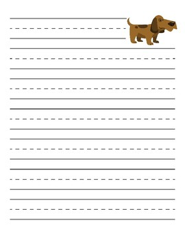 Primary Dog Lined Paper