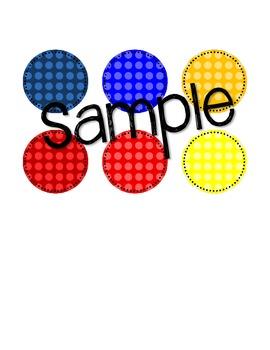 Primary Dot Circle Graphics