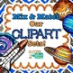 Blue Primary Dots Alphabet Clip Art   Glitter Letters for Classroom Decor