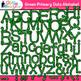 Primary Dots Alphabet Clip Art Bundle {Great for Classroom Decor & Resources}