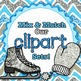 Sky Blue Primary Dots Alphabet Clip Art {Great for Classro