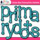 Winter Blue Primary Dots Alphabet Clip Art {Great for Classroom Decor}