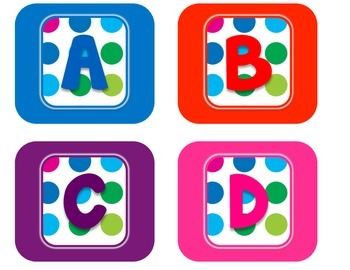 Primary Dots Alphabet Labels