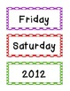 Primary Dots Calendar Cards {Days and Months too}