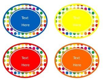 Primary Dots Class Jobs Poster & Editable Job Labels