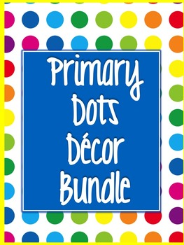 Primary Dots Decor Bundle