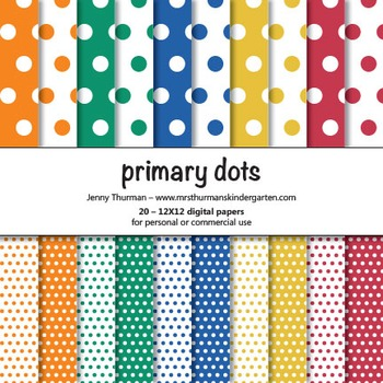 Primary Dots Digital Papers