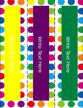 Primary Dots Editable Binder Covers & Spines