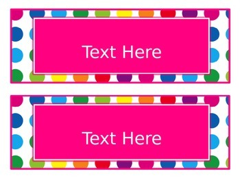 Primary Dots Editable Large Labels