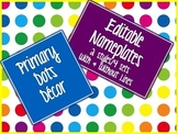 Primary Dots Editable Nameplates