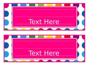 Primary Dots Editable Nameplates