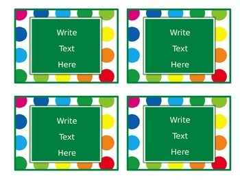 Primary Dots Editable Small Labels