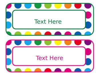 Primary Dots Editable Subject Labels