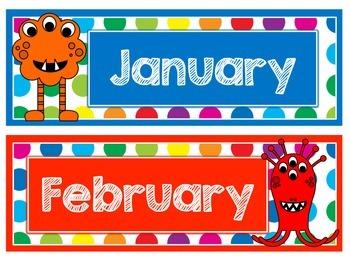 Primary Dots Monster Calendar