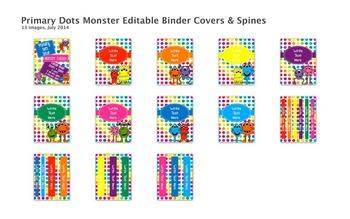 Primary Dots Monster Decor Bundle