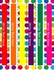 Primary Dots Monster Editable Binder Covers & Spines