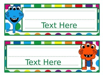 Primary Dots Monster Editable Nameplates