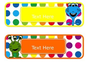 Primary Dots Monster Editable Passes