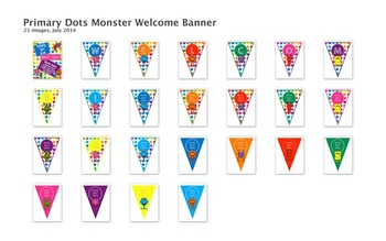 Primary Dots Monster Mega Decor Bundle