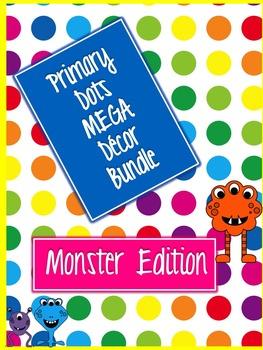 Primary Dots Monster Mega Decor Bundle