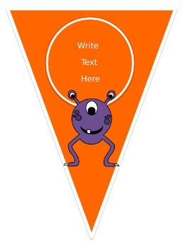 Primary Dots Monster Welcome Banner & Editable Pennants