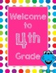 Primary Dots Monster Welcome to _____ Grade Poster (Strawberry)