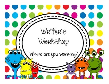 Primary Dots Monster Writing Clip Chart