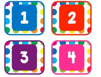 Primary Dots Number Labels
