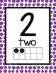 Primary Color Polka Dots Decor Number Posters