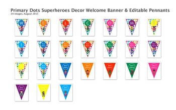 Primary Dots Superheroes Decor Bundle