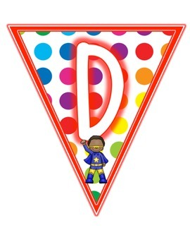 Primary Dots/Superheroes Decor Daily 5 Set