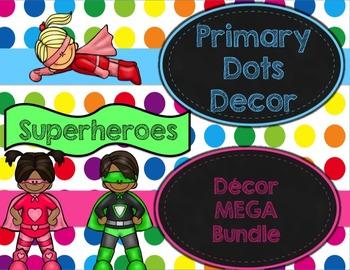 Primary Dots Superheroes Decor MEGA Bundle