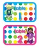 Primary Dots/Superheroes Decor Table Numbers