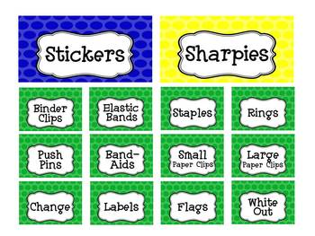 Primary Dots Teacher Toolbox Template - Editable