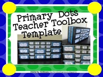 Primary Dots Teacher Toolbox Template - Editable