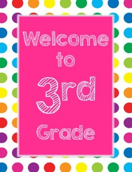 Primary Dots Welcome to _____ Grade Poster (Strawberry)
