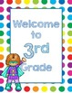 Primary Dots/Superheroes Decor Welcome Poster (Blue)