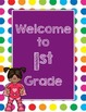 Primary Dots/Superheroes Decor Welcome Poster (Purple)