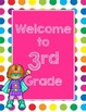 Primary Dots/Superheroes Decor Welcome Poster (Strawberry)