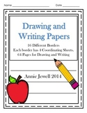 Kindergarten Drawing and Writing Papers - Distance Learning
