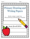 Kindergarten Drawing and Writing Papers Freebie - Distance Learning